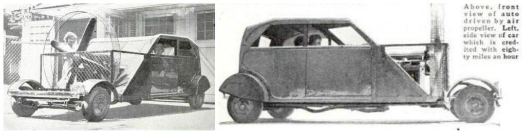l'auto ad elica di Detroit,da Popular Science, dicembre 1932.