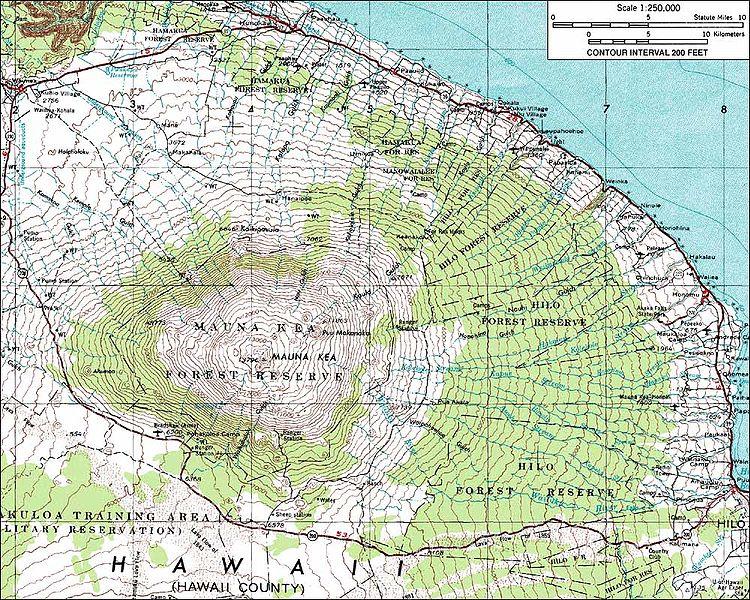 Il vulcano Mauna Kee, isola Hawaii