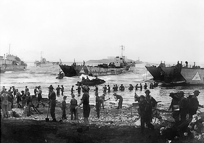 Divisione dell'esercito britannico sbarca a Licata il 10 luglio del 1943