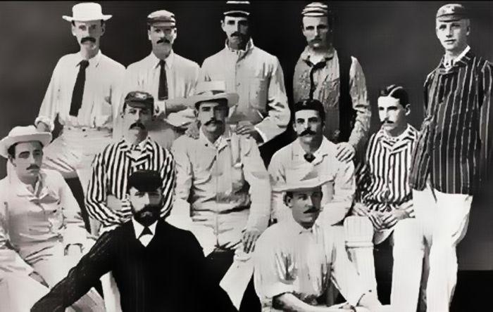 The Ashes: la squadra inglese di cricket del 1882-1883.