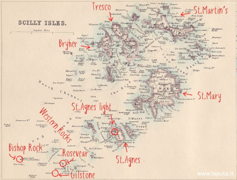 Mappa delle Scilly