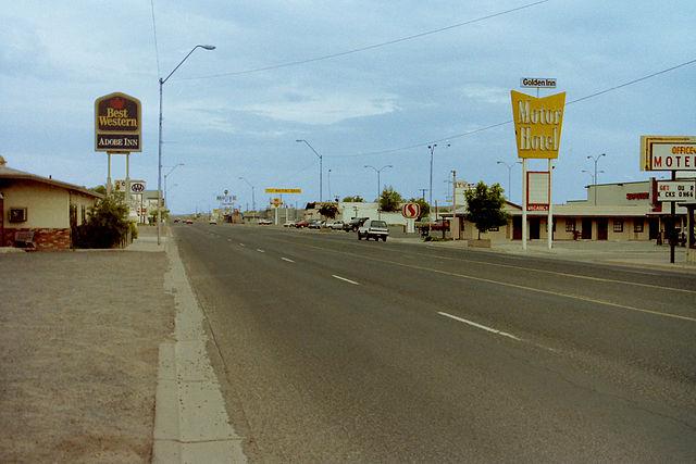 U.S. Route 66 in Holbrook, Arizona.