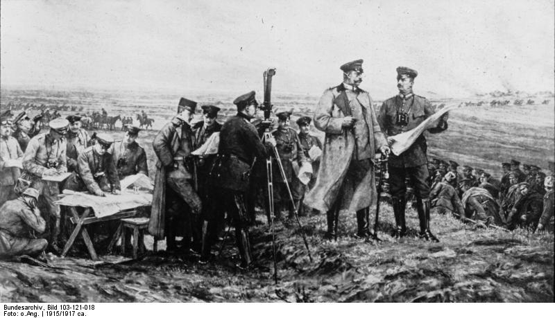 Tannenberg, Hindenburg e Schlachtfeld (Bundesarchiv)
