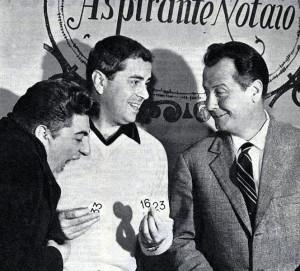 """""""L'amico del giaguaro"""", 1961: Bramieri, Pisu e Villa."""