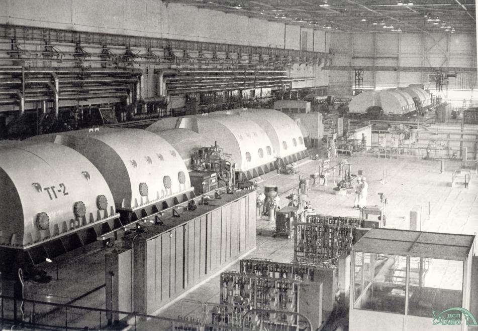 Centrale di Černobyl', sala dei turbogeneratori.