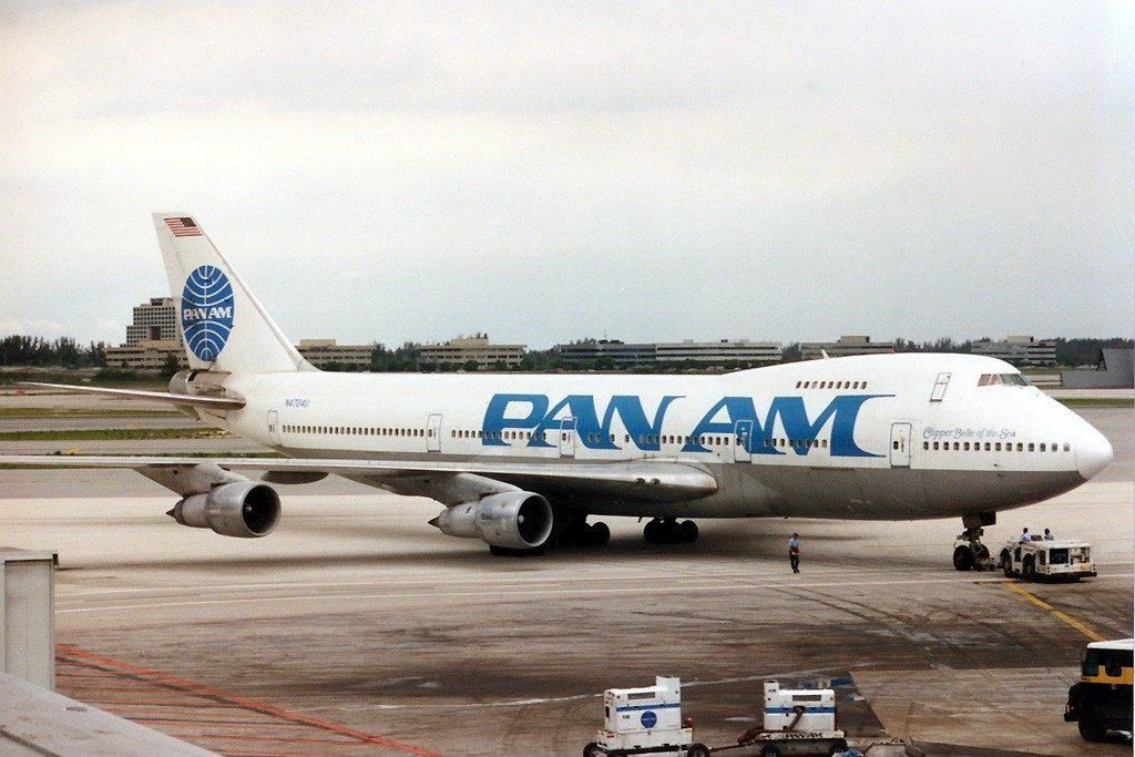 Boeing 747-122(SF) della Pan Am a Miami nel 1989