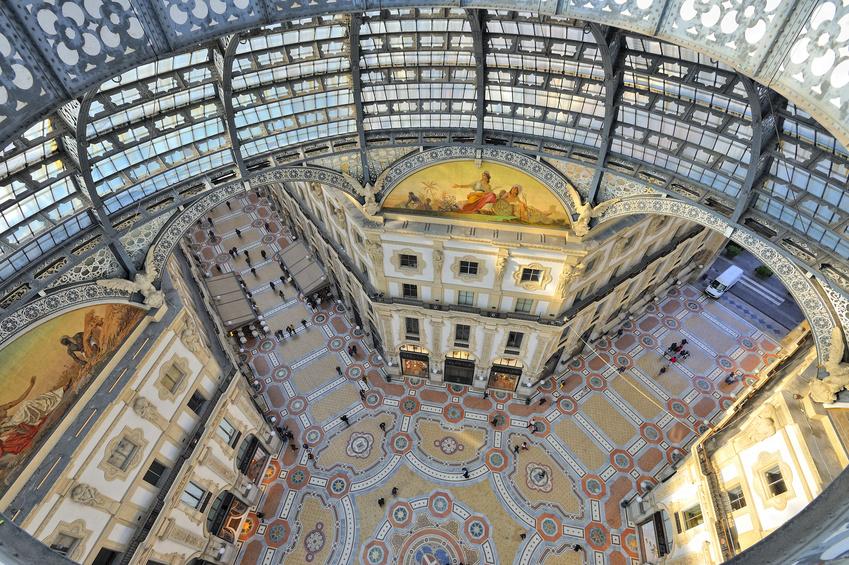 Milano Galleria Vittorio Emanuele II dall'alto