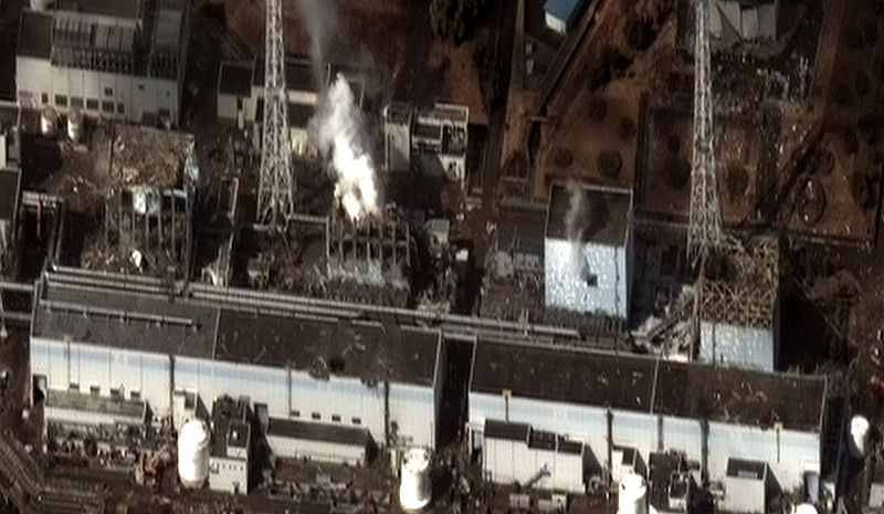 Centrale di Fukushima il 16 marzo 2011.