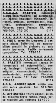 1968 annunci
