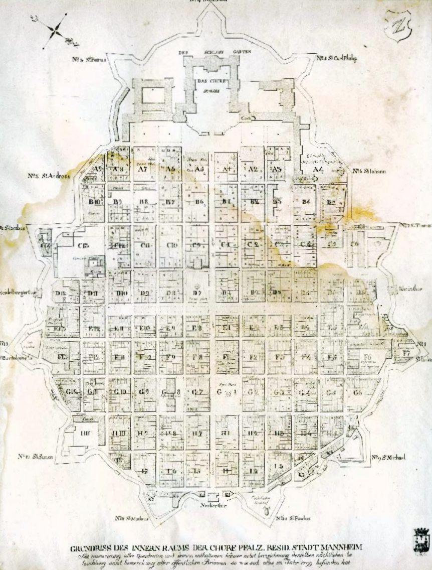 Quadratestadt, 1799