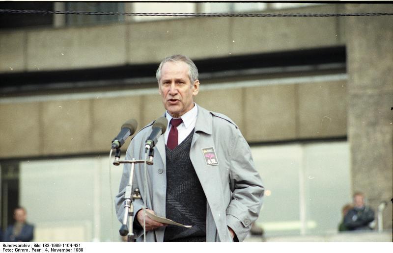 Matkus Wolf in Alexanderplatz nel 1989
