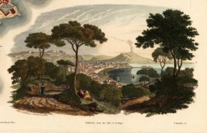view of Naples from the hill of Posillipo.