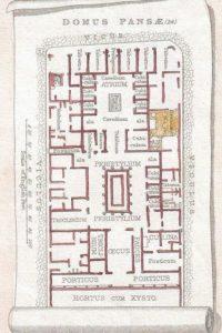 Dettaglio: pianta tipo di una domus pompeiana