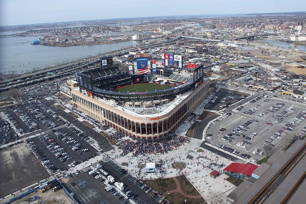 Citi Field, New York: vista aerea il giorno dell'inagurazione (13 aprile 2009)