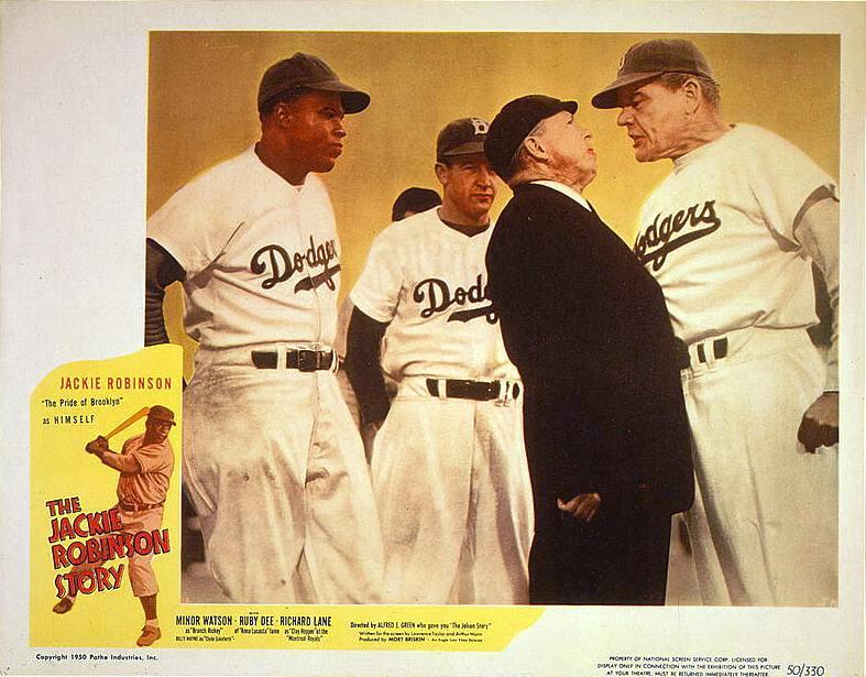 Jackie Robinson Story lobby card poster 1950