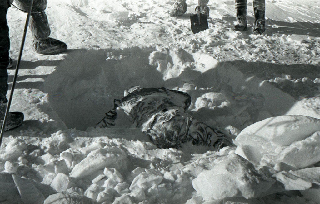 Ritrovamento del corpo di Rustem Slobodin.