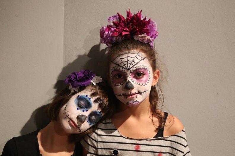 bambini truccati per Halloween