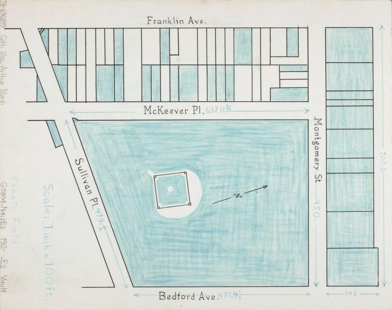 Mappa catastale di Ebbets Field, 1920