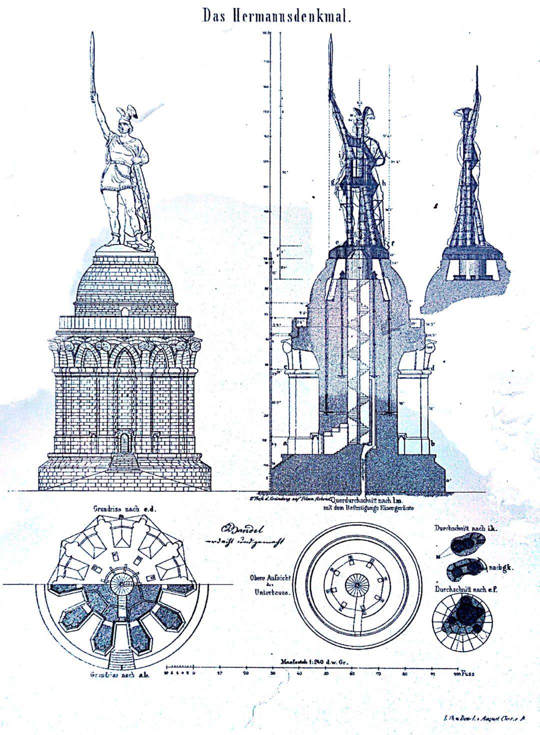 Disegno dell'Hermannsdenkmal