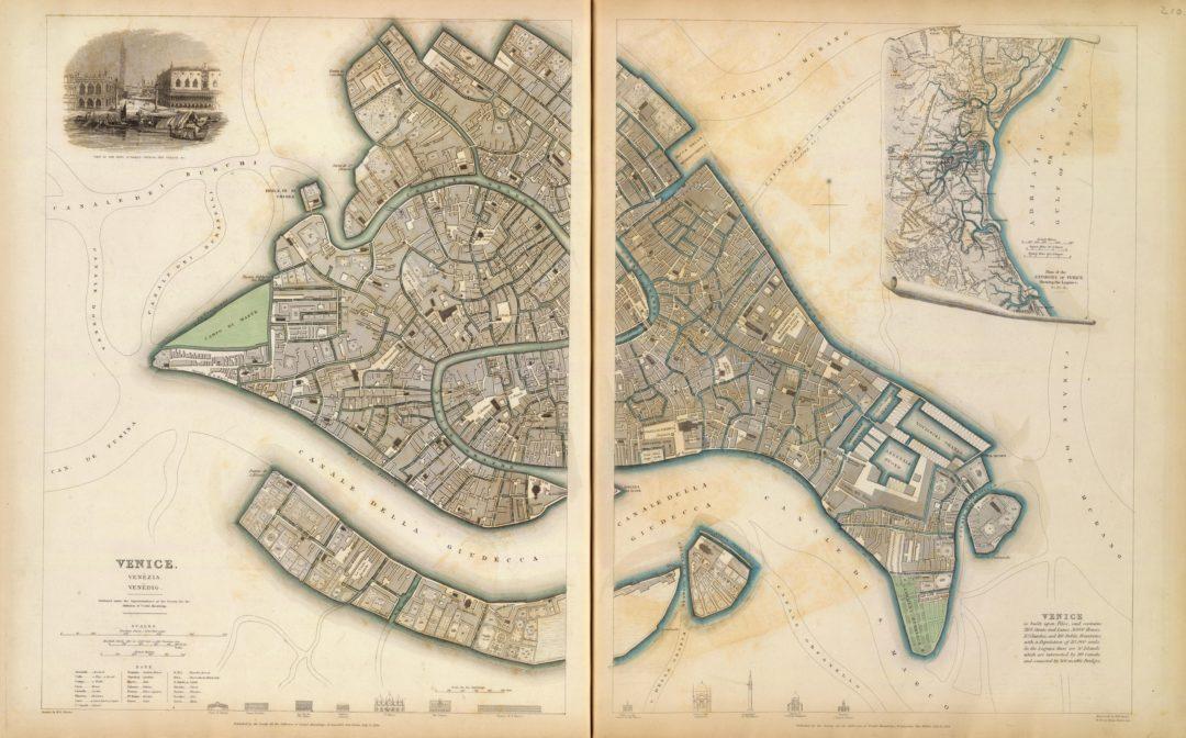 Mappa di Venezia del 1838 (SDUK)