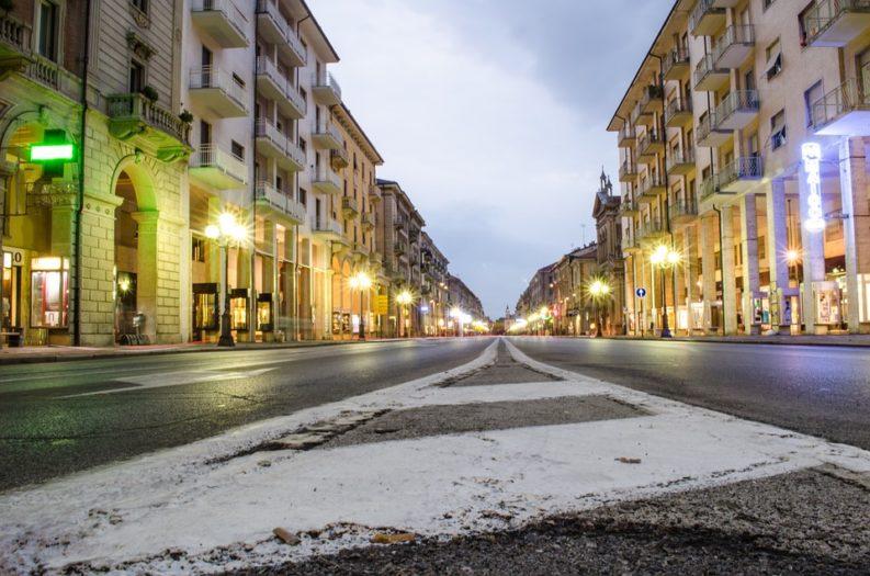 Corso Nizza a Cuneo