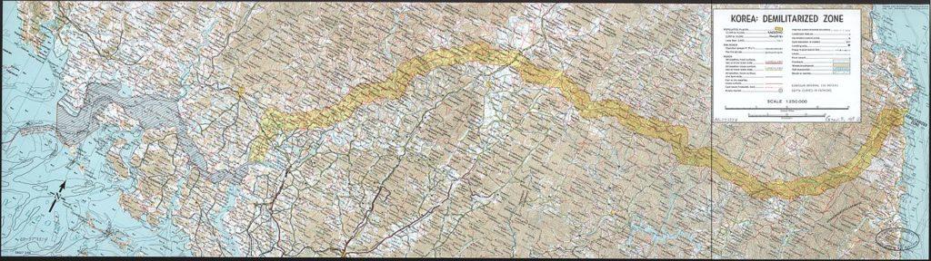 Zona demilitarizzata della Corea, mappa della CIA del 1969.