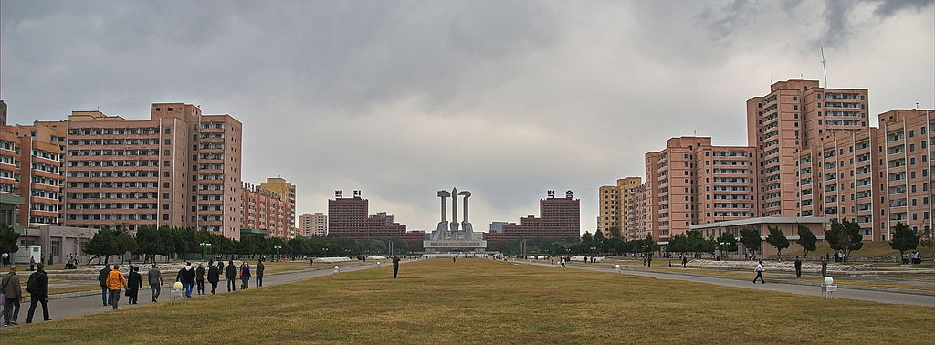 Veduta di Pyongyang, Corea del Nord.