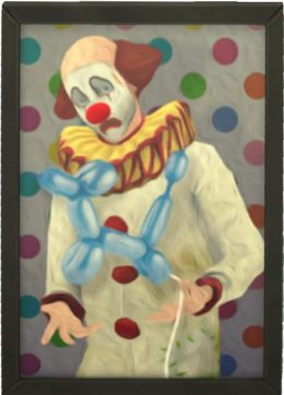 Quadro del Clown Tragico in The Sims