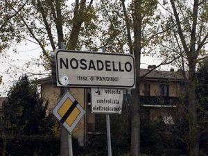 Nosadello: inizio del centro abitato
