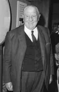 Il presidente del Real Madrid Santiago Bernabéu nel 1971