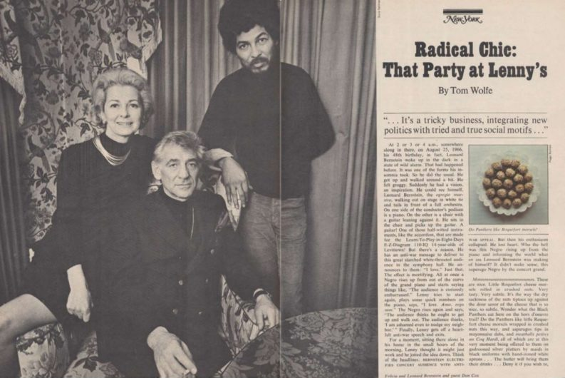 """""""Radical Chic That Party at Lenny's"""" di Tom Wolfe, da New York Magazine 1972"""