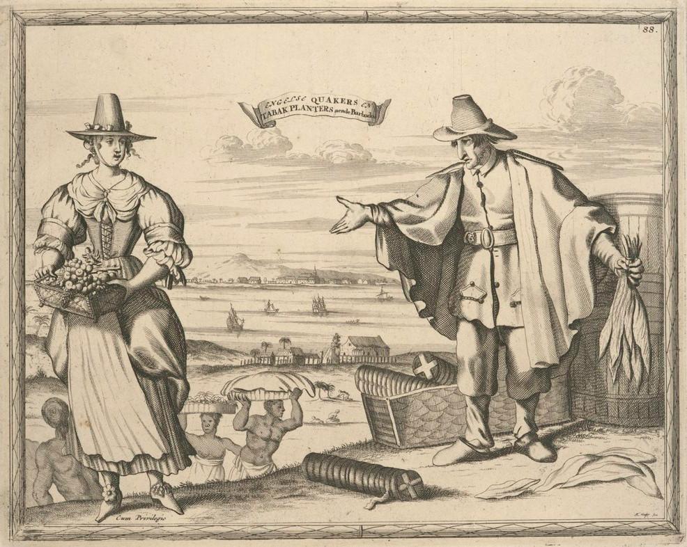 Quaccheri a Barbados, 1700