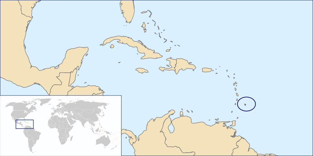 Posizione di Barbados nei Caraibi