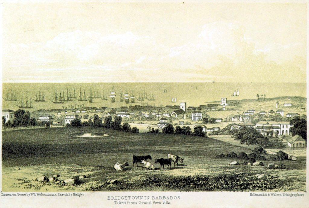 Bridgetown, Barbados. Litografia del 1848