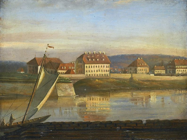 """View over the Elbe and the Barracks"", Joahn Christian Dahl,"