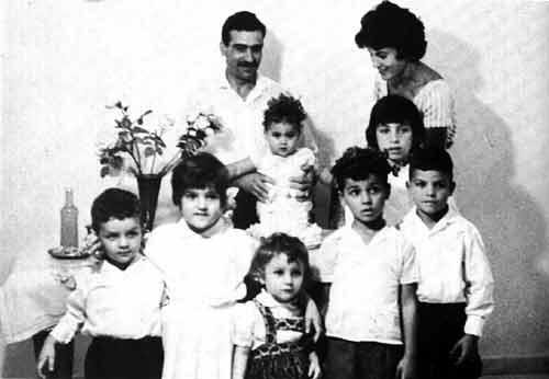 Eli Cohen con la sua famiglia.
