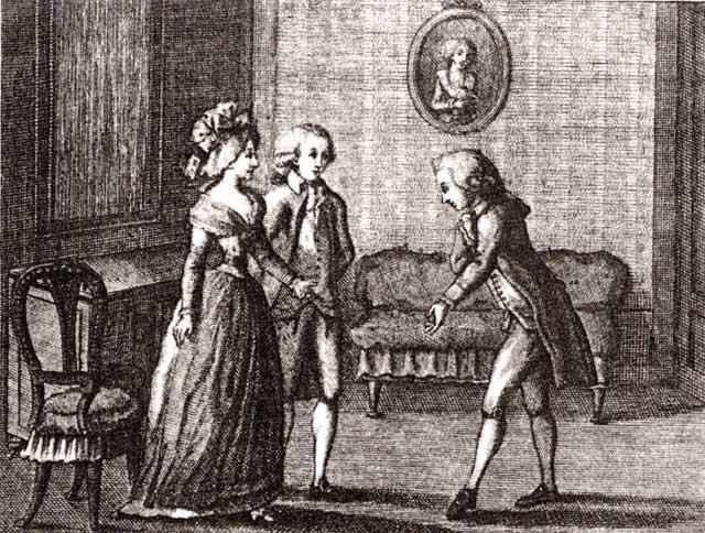 """Luigi Ponelato, """"Il cicisbeo"""", da Carlo Goldoni,Opere teatrali, vol. 13 (Venezia, 1790)"""