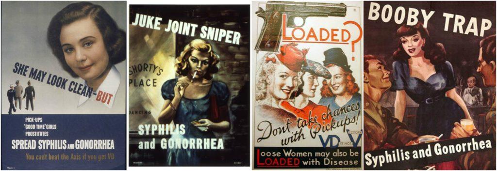 Poster di sensibilizzazione sui rischi dei venereal disease, seconda guerra mondiale.