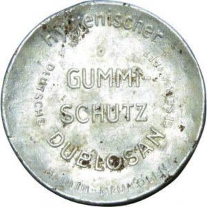 "confezione metallica preservativi tedeschi ""Dublosan"", seconda guerra mondiale"