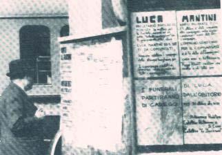 tazebao nappista per Luca Mantini, Firenze 1974