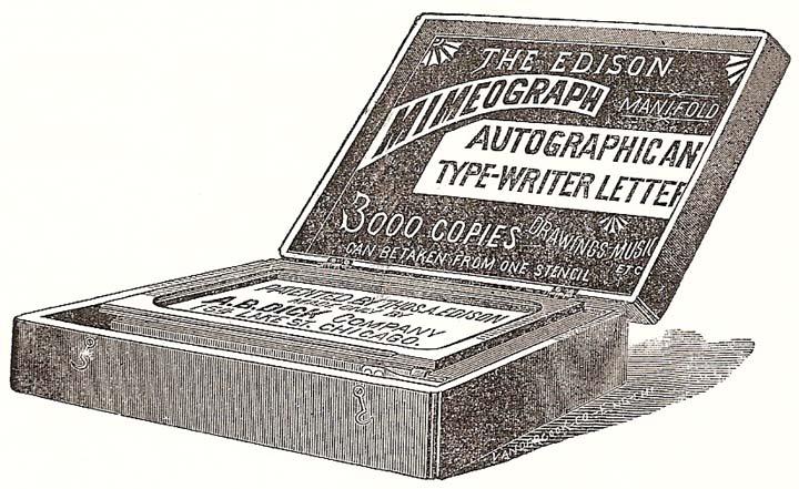 Mimeografo di Edison, 1889