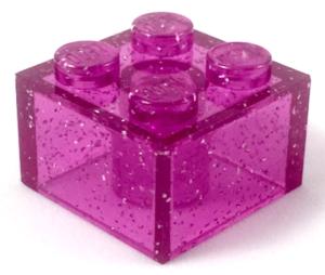 glitter transparent pink