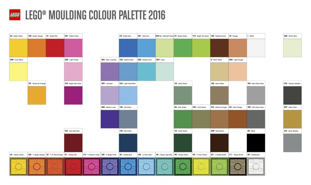 Lego palette 2016