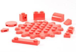 """pezzi Lego """"vibrant coral"""""""