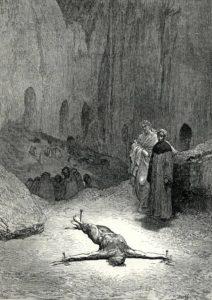 Gustave Doré, Inferno: Canto XXIII, 117-120 (1857)
