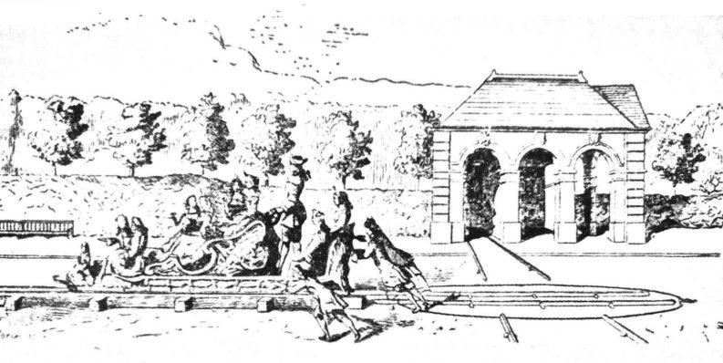 La ferrovia del Re Sole a Marly, da Picture Magazine (1894).