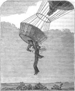 """Illustrazione per """"An air Story"""" di Jane G. Austin, da """"Student and Schoolmate"""", vol. 22."""