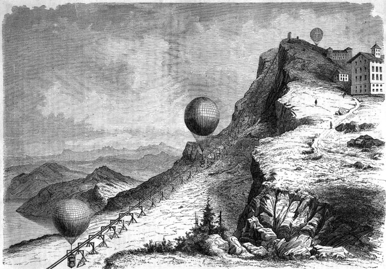 ferrovia atmosferica sul monte Rigi, 1859