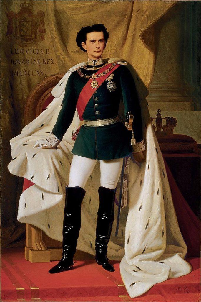 Ludwig II in alta uniforme ritratto da Ferdinand von Piloty, 1865