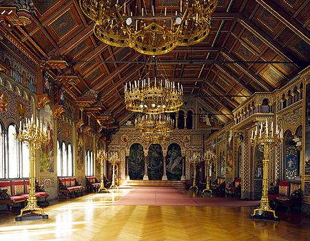La sala dei cantori al Neuschwanstein.